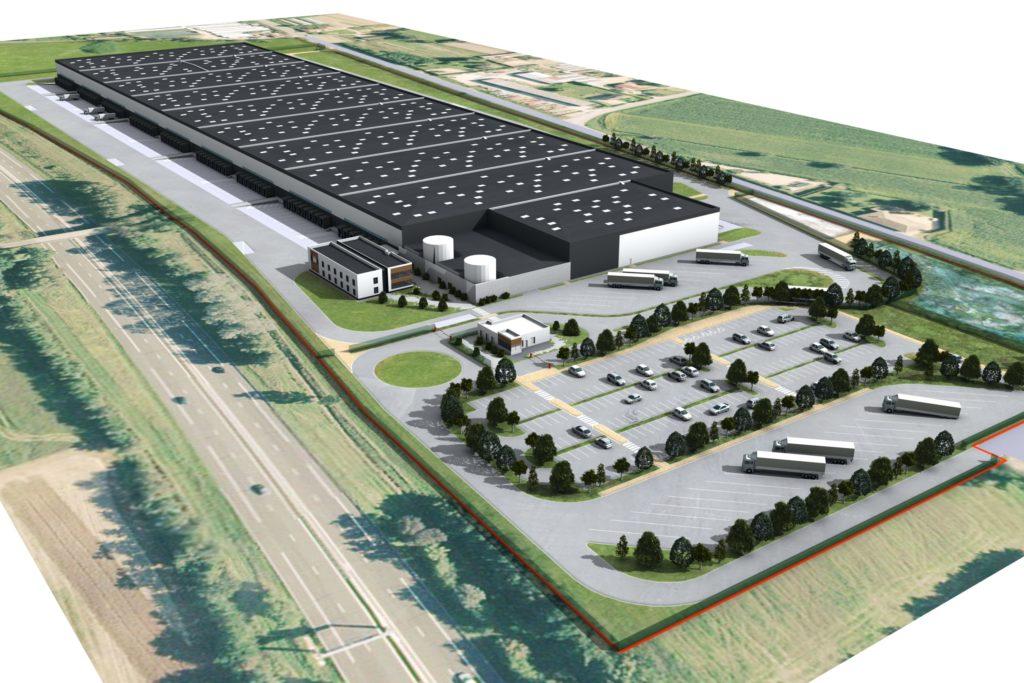 vue aerienne plateforme logistique argan bage la ville agence archi factory