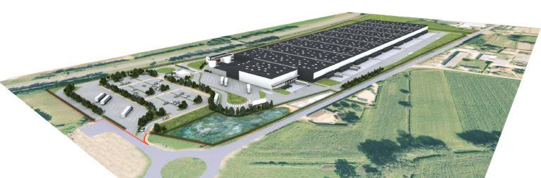 vue aerienne bage la ville plateforme logistique archi factory