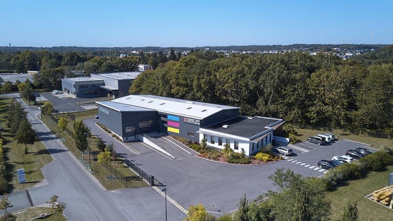 vue aerienne concept imprimerie hennebont archi factory