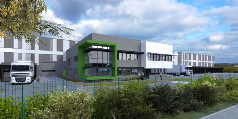 vue exterieure goodman plateforme logistique agence archi factory