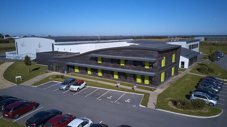 vue aerienne otb siege social plouedern archi factory