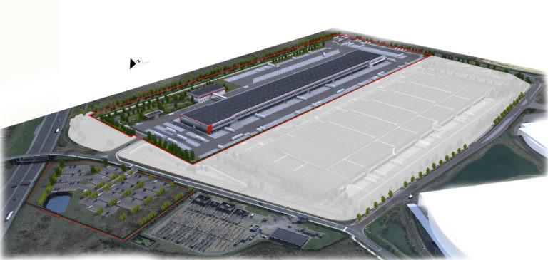 vue aerienne panhard developpement messagerie logistique archi factory