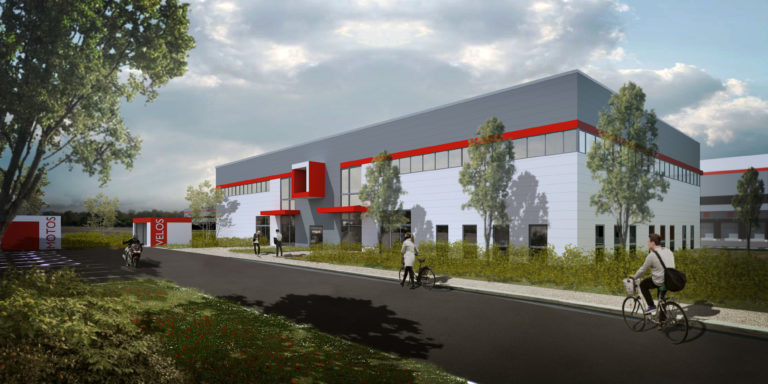 panhard developpement messagerie logistique le coudray montceaux archi factory