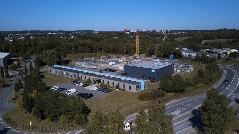 vue aerienne site srb construction archi factory