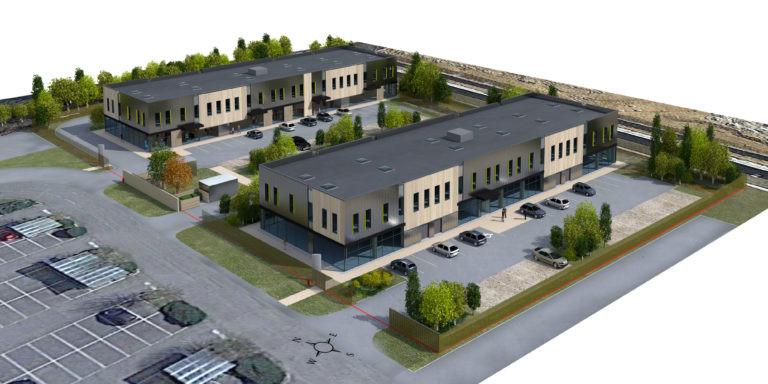 vue aerienne stone hedge servon programme mixte agence archi factory