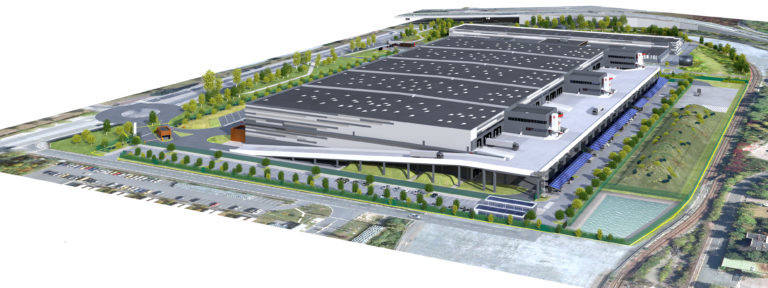 vue aerienne vailog genevilliers logistique urbaine agence archi factory