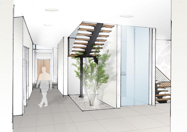esquisse amenagement interieur projet vailog agence archi factory