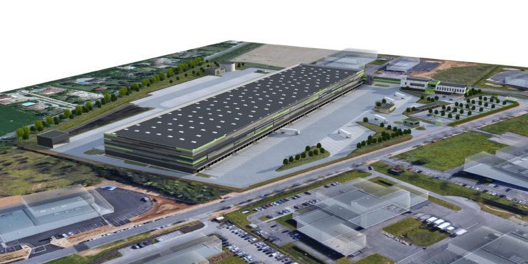 vue aerienne virtuo messagerie logistique agence archi factory