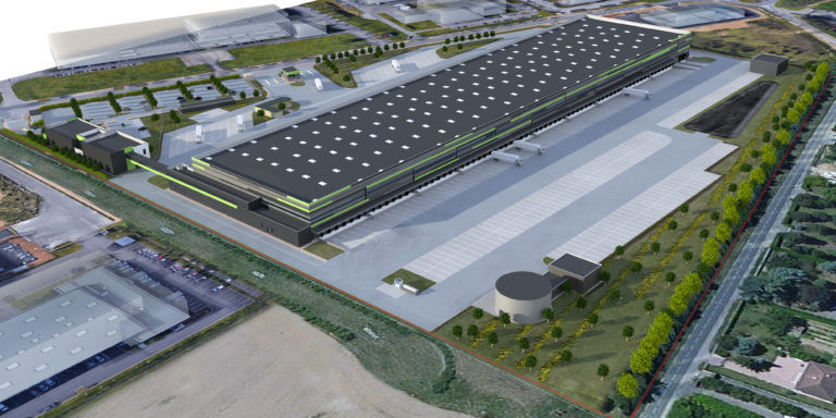 vue aerienne virtuo messagerie logistique agence archi factory