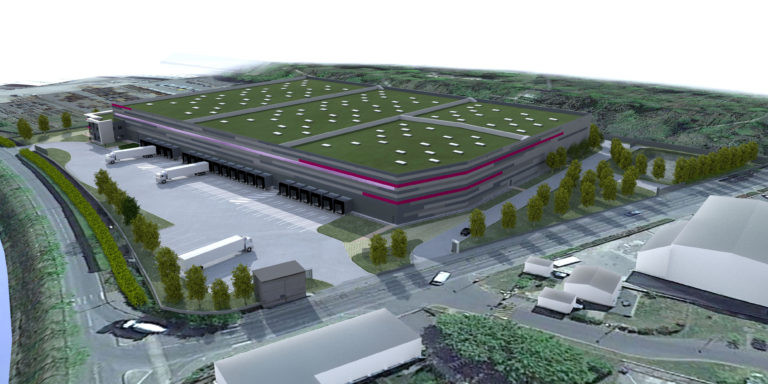 vue aerienne plateforme logistique agence archi factory