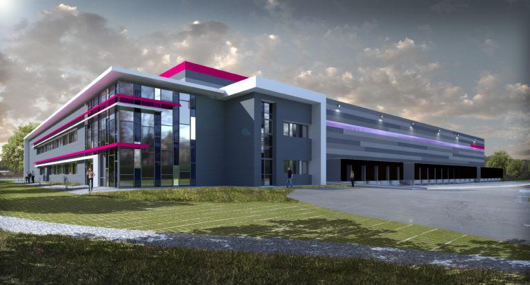 virtuo vue nuit plateforme logistique agence archi factory