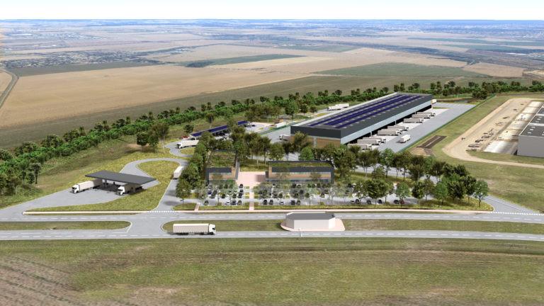 barjane Réau vue aérienne parc A5 Sénart