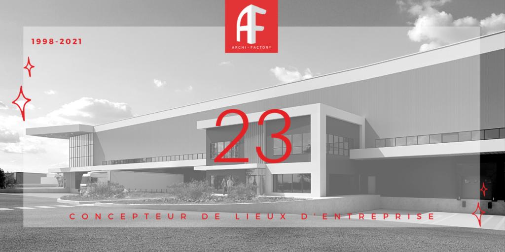 23 ans Visuel archi factory conception lieux entreprises
