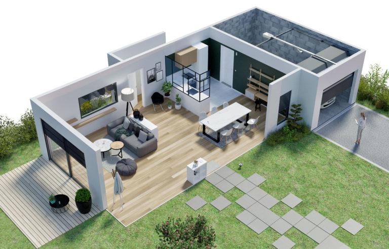 image 3d maison connectee agence pix factory