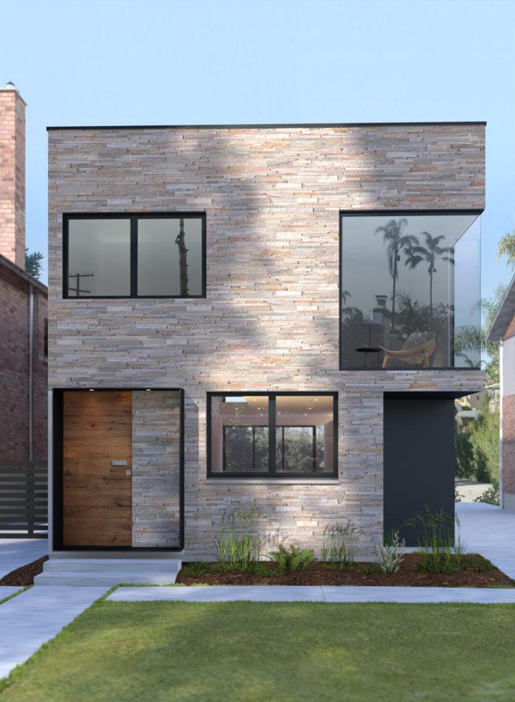 image 3d synthese photo realiste façade maison pix factory