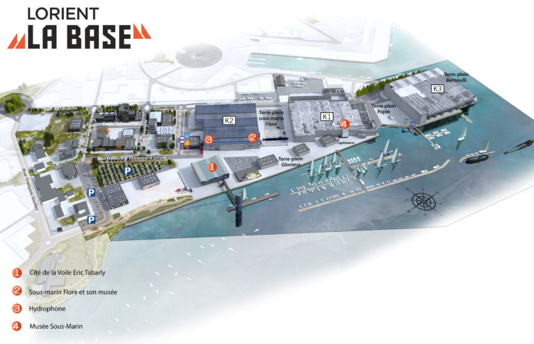 carthographie plan 3d lorient la base pix factory