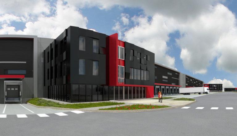 Vue ensemble Segro Projet Logistique Saint Quentin Fallavier